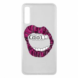 Чохол для Samsung A7 2018 Lips with the words cool