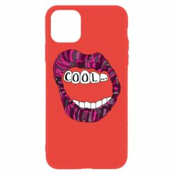 Чохол для iPhone 11 Lips with the words cool