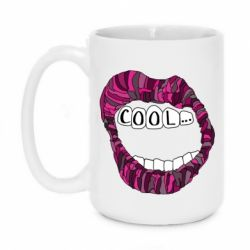 Кружка 420ml Lips with the words cool