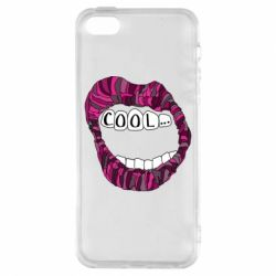 Чохол для iphone 5/5S/SE Lips with the words cool