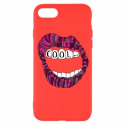 Чохол для iPhone 8 Lips with the words cool