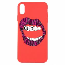 Чохол для iPhone X/Xs Lips with the words cool