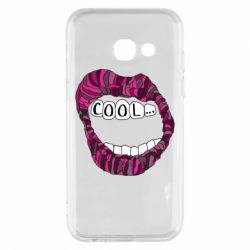 Чохол для Samsung A3 2017 Lips with the words cool