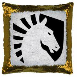 Подушка-хамелеон liquid logo