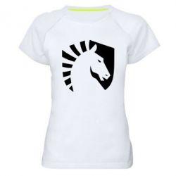 Женская спортивная футболка liquid logo