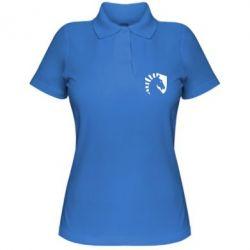 Женская футболка поло liquid logo
