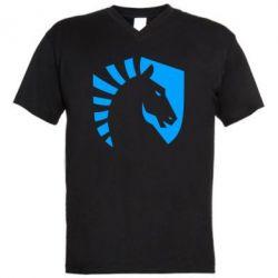 Чоловіча футболка з V-подібним вирізом liquid logo