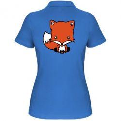 Женская футболка поло Лиса - FatLine