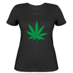 Женская футболка Листик марихуаны