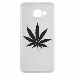 Чохол для Samsung A3 2016 Листочок марихуани