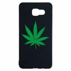 Чохол для Samsung A5 2016 Листочок марихуани