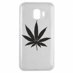Чохол для Samsung J2 2018 Листочок марихуани