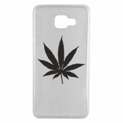 Чохол для Samsung A7 2016 Листочок марихуани