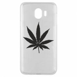 Чохол для Samsung J4 Листочок марихуани