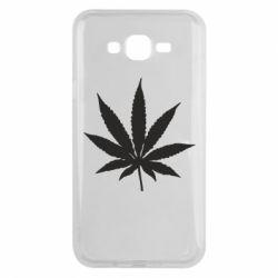 Чохол для Samsung J7 2015 Листочок марихуани