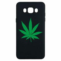 Чохол для Samsung J7 2016 Листочок марихуани