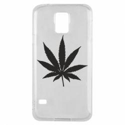 Чохол для Samsung S5 Листочок марихуани