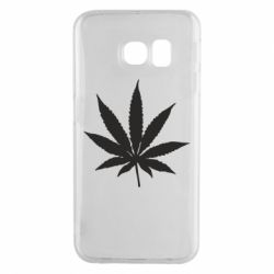Чохол для Samsung S6 EDGE Листочок марихуани