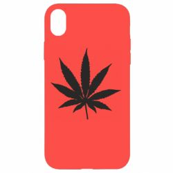 Чохол для iPhone XR Листочок марихуани
