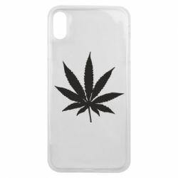 Чохол для iPhone Xs Max Листочок марихуани