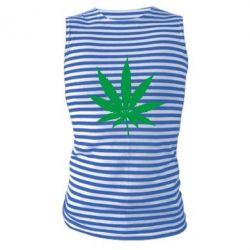 Майка-тельняшка Листик марихуаны