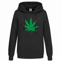 Толстовка жіноча Листочок марихуани