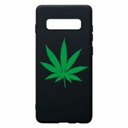 Чохол для Samsung S10+ Листочок марихуани