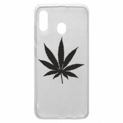 Чохол для Samsung A20 Листочок марихуани