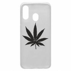 Чохол для Samsung A40 Листочок марихуани