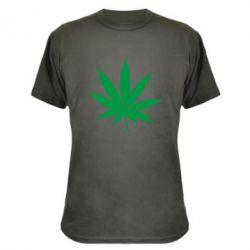 Камуфляжная футболка Листик марихуаны