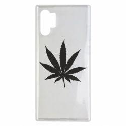 Чохол для Samsung Note 10 Plus Листочок марихуани