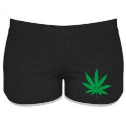 Женские шорты Листик марихуаны