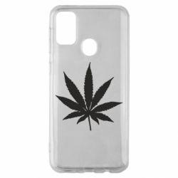 Чохол для Samsung M30s Листочок марихуани