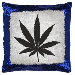 Подушка-хамелеон Листочок марихуани