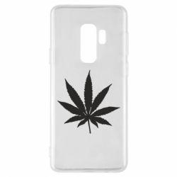 Чохол для Samsung S9+ Листочок марихуани