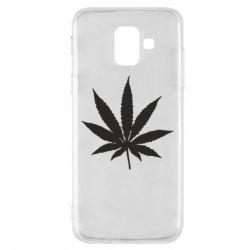 Чохол для Samsung A6 2018 Листочок марихуани