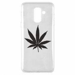 Чохол для Samsung A6+ 2018 Листочок марихуани