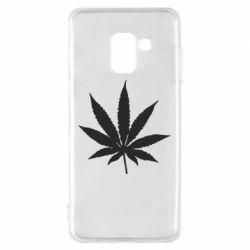 Чохол для Samsung A8 2018 Листочок марихуани