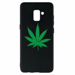 Чохол для Samsung A8+ 2018 Листочок марихуани