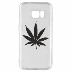 Чохол для Samsung S7 Листочок марихуани