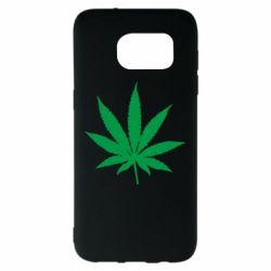 Чохол для Samsung S7 EDGE Листочок марихуани