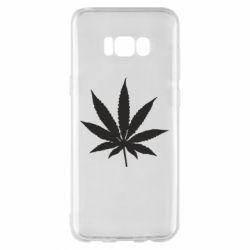Чохол для Samsung S8+ Листочок марихуани