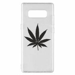 Чохол для Samsung Note 8 Листочок марихуани