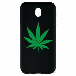 Чохол для Samsung J7 2017 Листочок марихуани