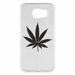 Чохол для Samsung S6 Листочок марихуани