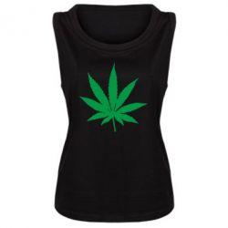 Женская майка Листик марихуаны