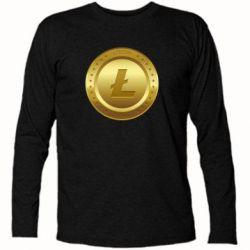 Купить Футболка с длинным рукавом Litecoin coin, FatLine