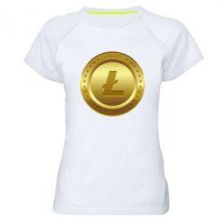 Купить Женская спортивная футболка Litecoin coin, FatLine