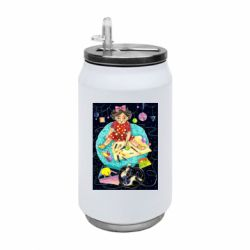 Термобанка 350ml Little artist with a cat