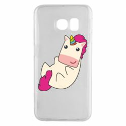 Чехол для Samsung S6 EDGE Little cute unicorn